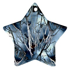 Abstract Of Frozen Bush Star Ornament (two Sides) by canvasngiftshop