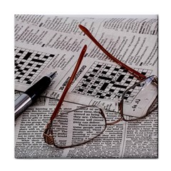 Crossword Genius Ceramic Tile by StuffOrSomething