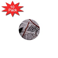 Crossword Genius 1  Mini Button (10 Pack) by StuffOrSomething