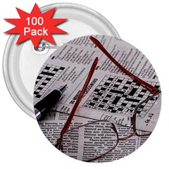Crossword Genius 3  Button (100 Pack) by StuffOrSomething