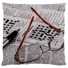 Crossword Genius Large Flano Cushion Case (two Sides) by StuffOrSomething