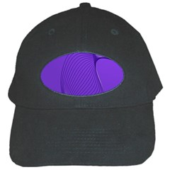 Twisted Purple Pain Signals Black Baseball Cap by FunWithFibro
