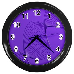Twisted Purple Pain Signals Wall Clock (black) by FunWithFibro