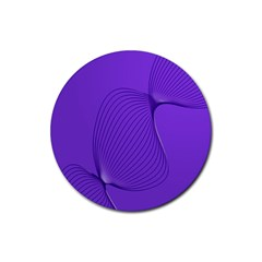 Twisted Purple Pain Signals Drink Coasters 4 Pack (round) by FunWithFibro