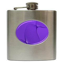 Twisted Purple Pain Signals Hip Flask by FunWithFibro