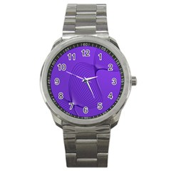 Twisted Purple Pain Signals Sport Metal Watch by FunWithFibro
