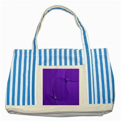 Twisted Purple Pain Signals Blue Striped Tote Bag by FunWithFibro