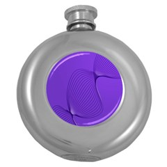Twisted Purple Pain Signals Hip Flask (round) by FunWithFibro