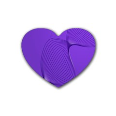 Twisted Purple Pain Signals Drink Coasters 4 Pack (heart)  by FunWithFibro