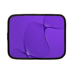 Twisted Purple Pain Signals Netbook Sleeve (small) by FunWithFibro