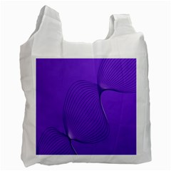Twisted Purple Pain Signals White Reusable Bag (one Side) by FunWithFibro