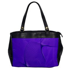 Twisted Purple Pain Signals Oversize Office Handbag (one Side) by FunWithFibro