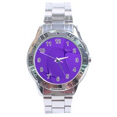 Twisted Purple Pain Signals Stainless Steel Watch