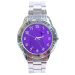 Twisted Purple Pain Signals Stainless Steel Watch Front