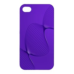 Twisted Purple Pain Signals Apple Iphone 4/4s Premium Hardshell Case by FunWithFibro