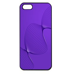 Twisted Purple Pain Signals Apple Iphone 5 Seamless Case (black) by FunWithFibro
