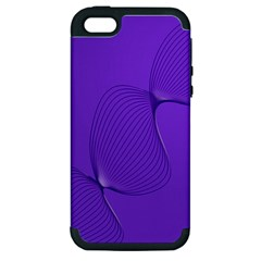 Twisted Purple Pain Signals Apple Iphone 5 Hardshell Case (pc+silicone) by FunWithFibro