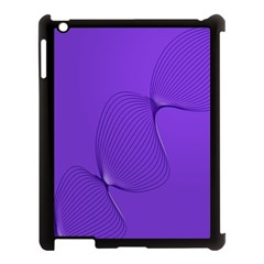 Twisted Purple Pain Signals Apple Ipad 3/4 Case (black) by FunWithFibro
