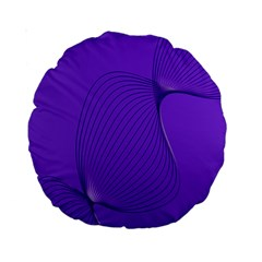 Twisted Purple Pain Signals 15  Premium Round Cushion  by FunWithFibro