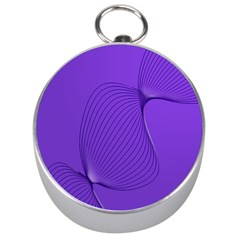 Twisted Purple Pain Signals Silver Compass by FunWithFibro