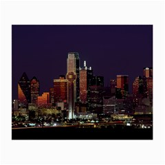 Dallas Skyline At Night Glasses Cloth (small, Two Sided) by StuffOrSomething
