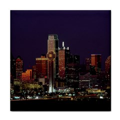 Dallas Skyline At Night Face Towel by StuffOrSomething