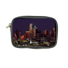 Dallas Skyline At Night Coin Purse by StuffOrSomething
