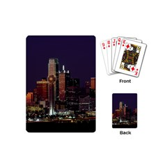Dallas Skyline At Night Playing Cards (mini) by StuffOrSomething