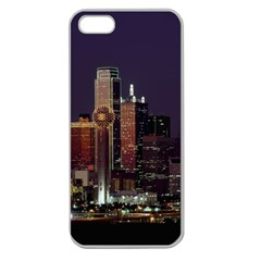 Dallas Skyline At Night Apple Seamless Iphone 5 Case (clear) by StuffOrSomething