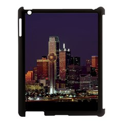 Dallas Skyline At Night Apple Ipad 3/4 Case (black) by StuffOrSomething