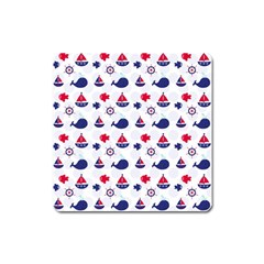 Nautical Sea Pattern Magnet (square) by StuffOrSomething