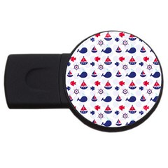 Nautical Sea Pattern 4gb Usb Flash Drive (round) by StuffOrSomething