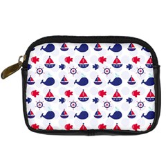 Nautical Sea Pattern Digital Camera Leather Case by StuffOrSomething