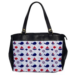 Nautical Sea Pattern Oversize Office Handbag (one Side) by StuffOrSomething
