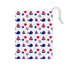 Nautical Sea Pattern Drawstring Pouch (large) by StuffOrSomething
