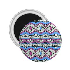 Aztec Style Pattern In Pastel Colors 2 25  Button Magnet