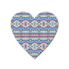 Aztec Style Pattern In Pastel Colors Magnet (heart) by dflcprints