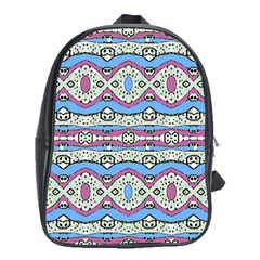 Aztec Style Pattern In Pastel Colors School Bag (xl) by dflcprints