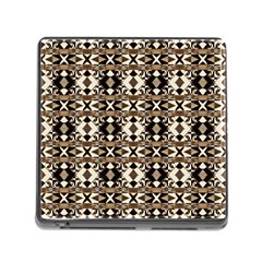 Geometric Tribal Style Pattern In Brown Colors Scarf Memory Card Reader With Storage (square)