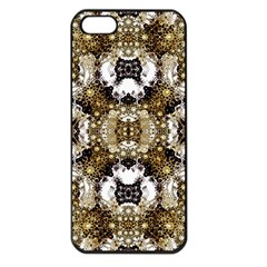 Baroque Ornament Pattern Print Apple Iphone 5 Seamless Case (black) by dflcprints