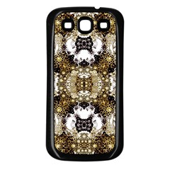 Baroque Ornament Pattern Print Samsung Galaxy S3 Back Case (black) by dflcprints
