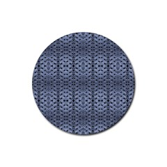 Futuristic Geometric Pattern Design Print In Blue Tones Drink Coasters 4 Pack (round) by dflcprints