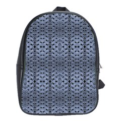 Futuristic Geometric Pattern Design Print In Blue Tones School Bag (large) by dflcprints