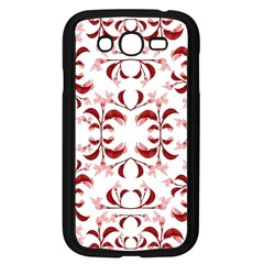 Floral Print Modern Pattern In Red And White Tones Samsung Galaxy Grand Duos I9082 Case (black) by dflcprints