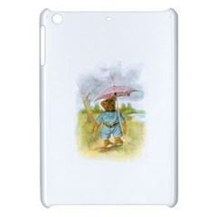 Vintage Drawing: Teddy Bear In The Rain Apple Ipad Mini Hardshell Case by MotherGoose
