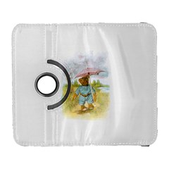 Vintage Drawing: Teddy Bear In The Rain Samsung Galaxy S  Iii Flip 360 Case by MotherGoose