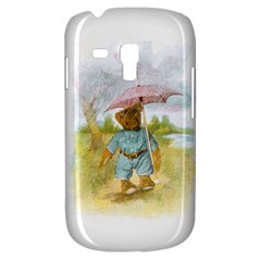 Vintage Drawing: Teddy Bear In The Rain Samsung Galaxy S3 Mini I8190 Hardshell Case by MotherGoose