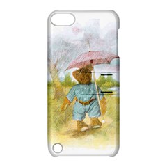 Vintage Drawing: Teddy Bear In The Rain Apple Ipod Touch 5 Hardshell Case With Stand by MotherGoose