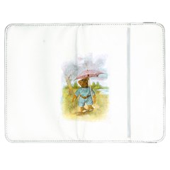 Vintage Drawing: Teddy Bear In The Rain Samsung Galaxy Tab 7  P1000 Flip Case by MotherGoose