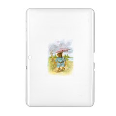 Vintage Drawing: Teddy Bear In The Rain Samsung Galaxy Tab 2 (10 1 ) P5100 Hardshell Case  by MotherGoose